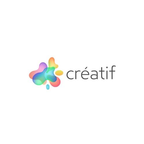 Colorful, bright logo for Creatif