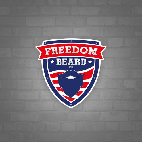 Logo concept for Freedom Beard Company
