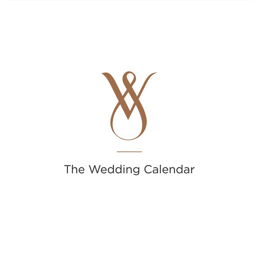 logo concept for web platform The Wedding Calendar