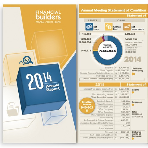 Brochure for a financial company