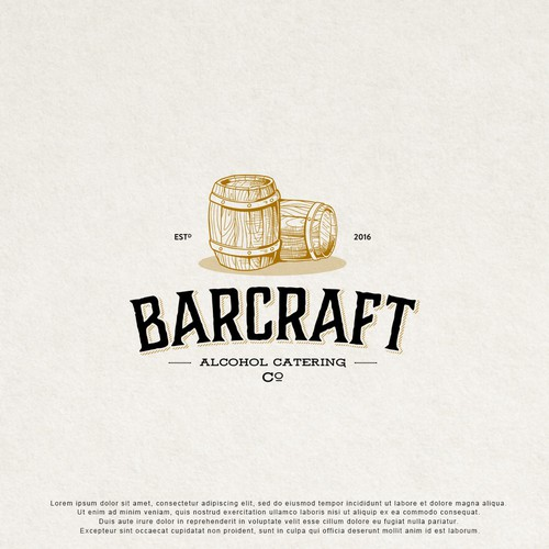 Vintage logo design for Alcohol Catering.