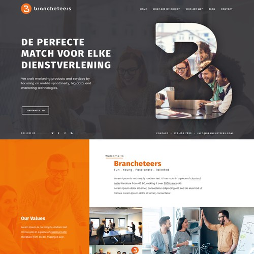 Fun and Creative Website Design for Marketing Agency