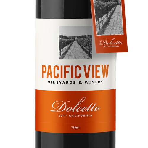 Pacific View Wine Label