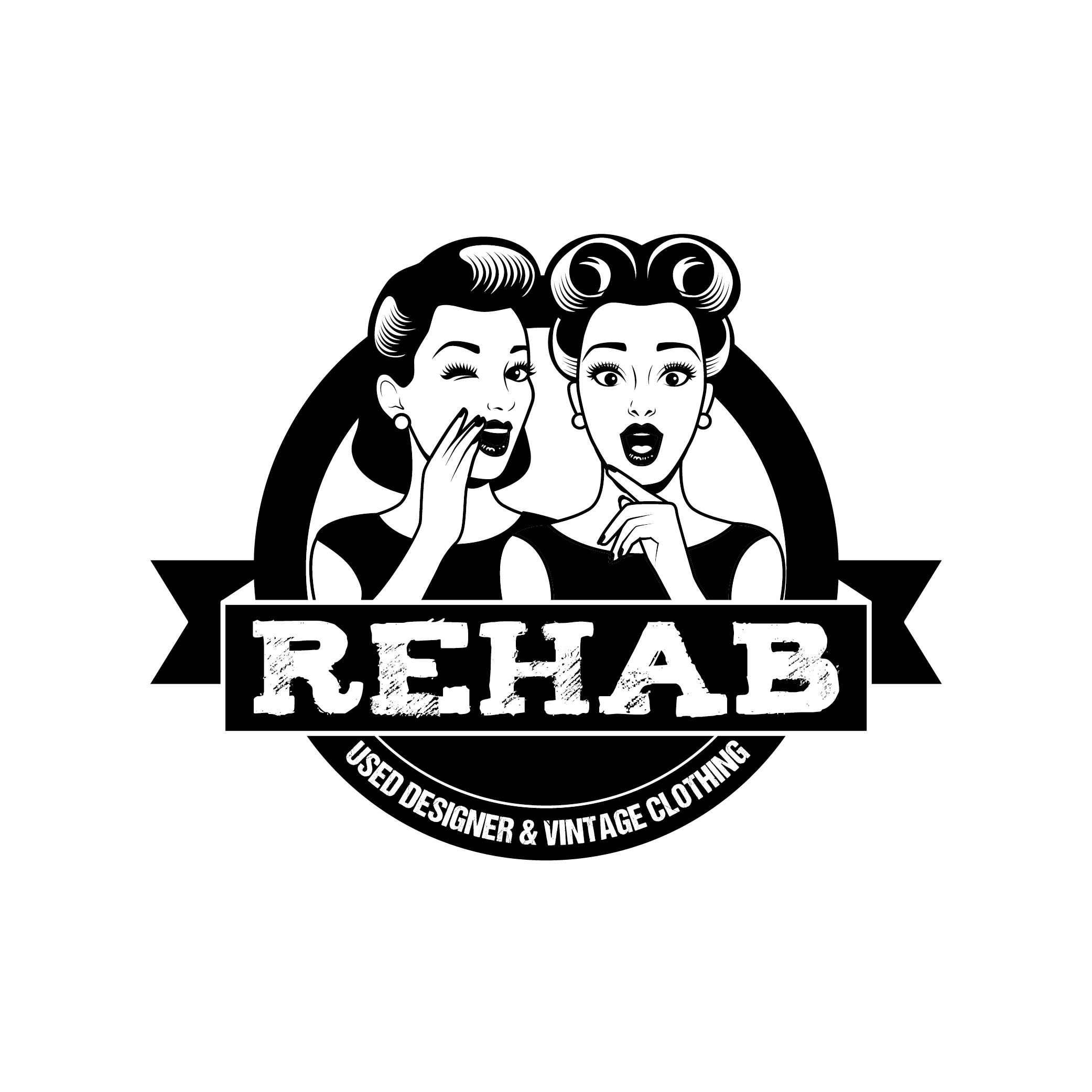 Logo for Rehab Feat. 1940's - 50's Ladies Gossiping