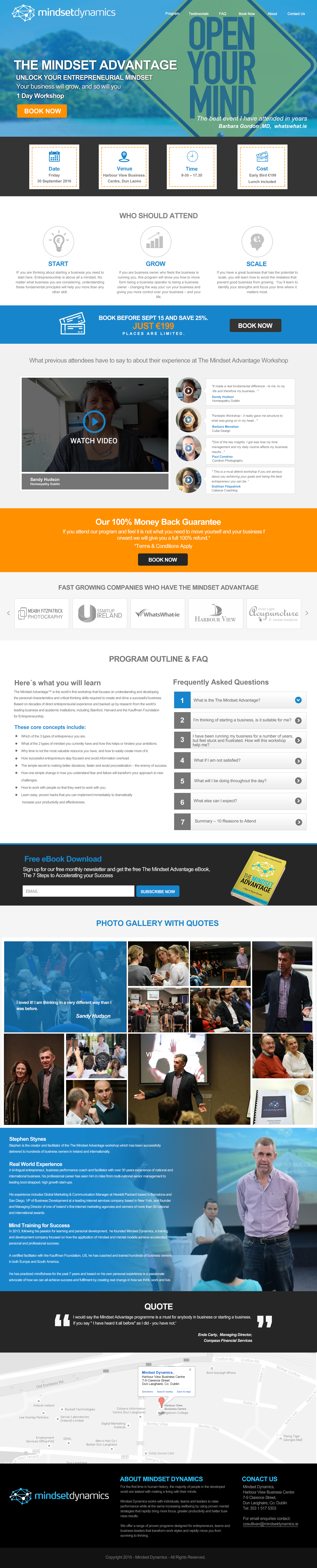 Create a landing page that will help entrepreneurs get more traction in their businesses.