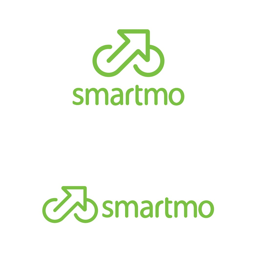 smartmo the first digital bike/roller stand that can be reserved by APP. We live smart mobility. We need an intnat. Logo