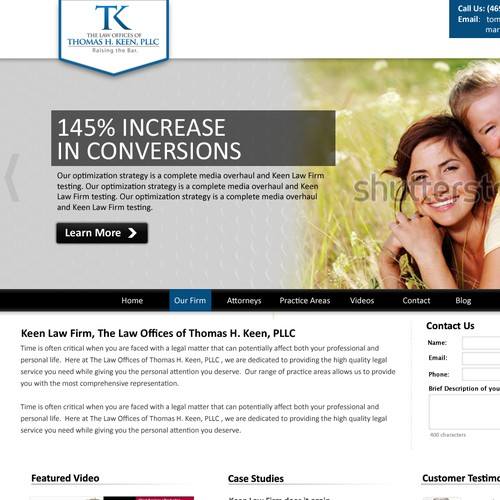 New website design wanted for Keen Law Firm