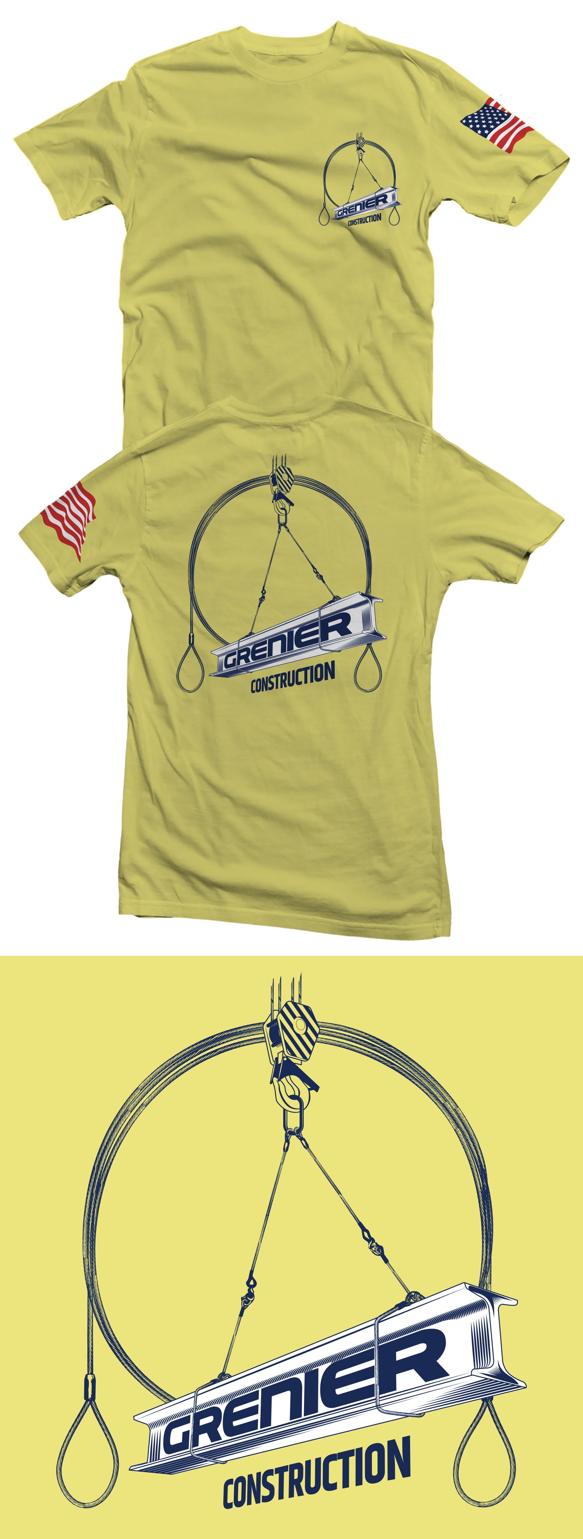 Grenier Construction shirt design