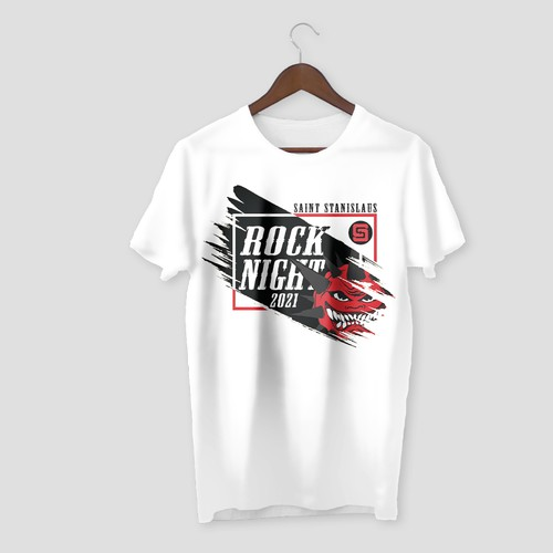 T-Shirt Design for Rock Night Event