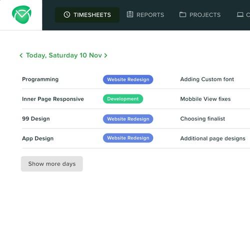 Timesheet SAAS app