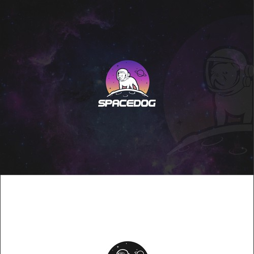 Logo for Spacedog. An LED harness for dogs.