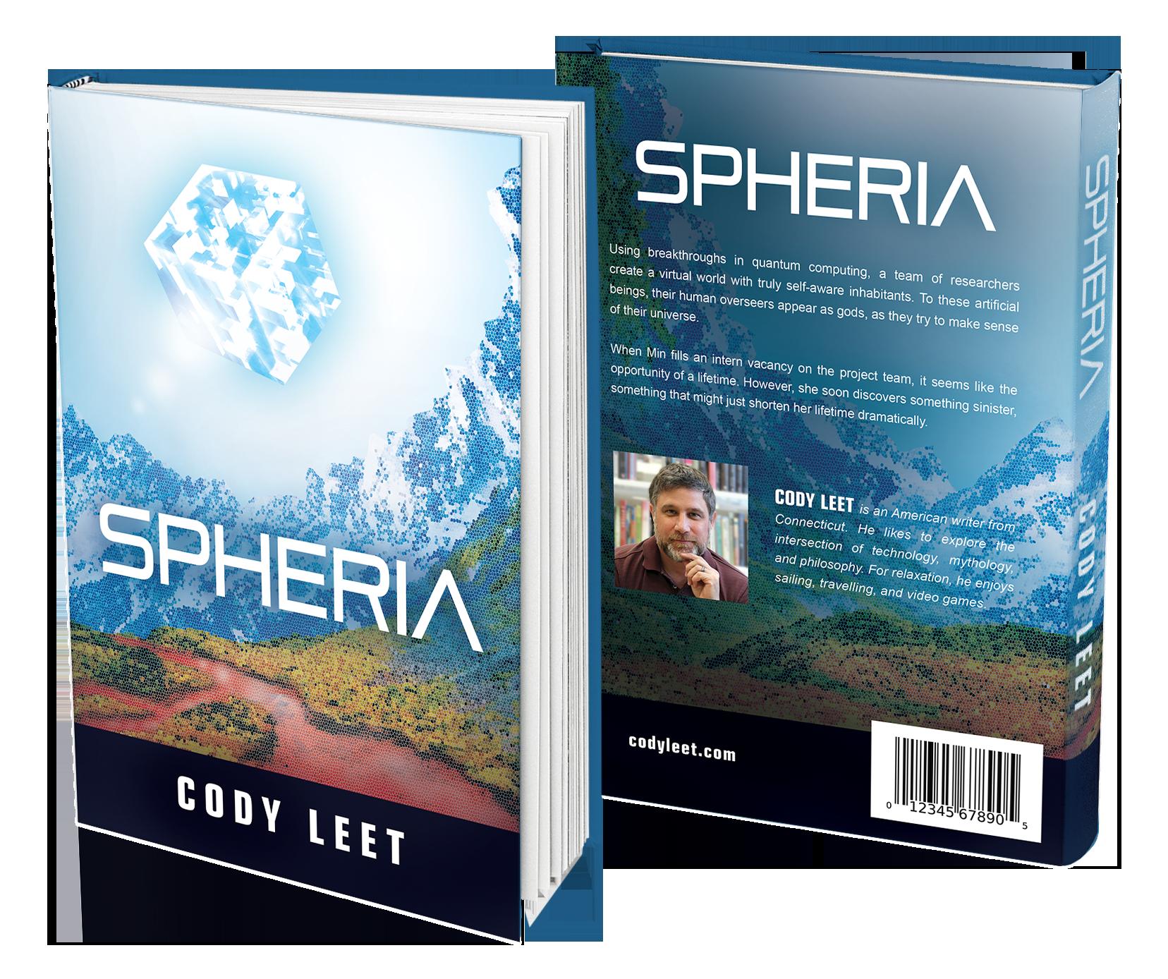 Create a cover for the novel Spheria
