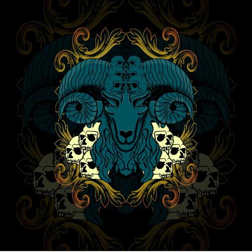Sheep Skull Ornament