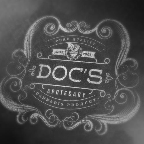 Creating a vintage logo for a Modern Apothecary (cannabis)