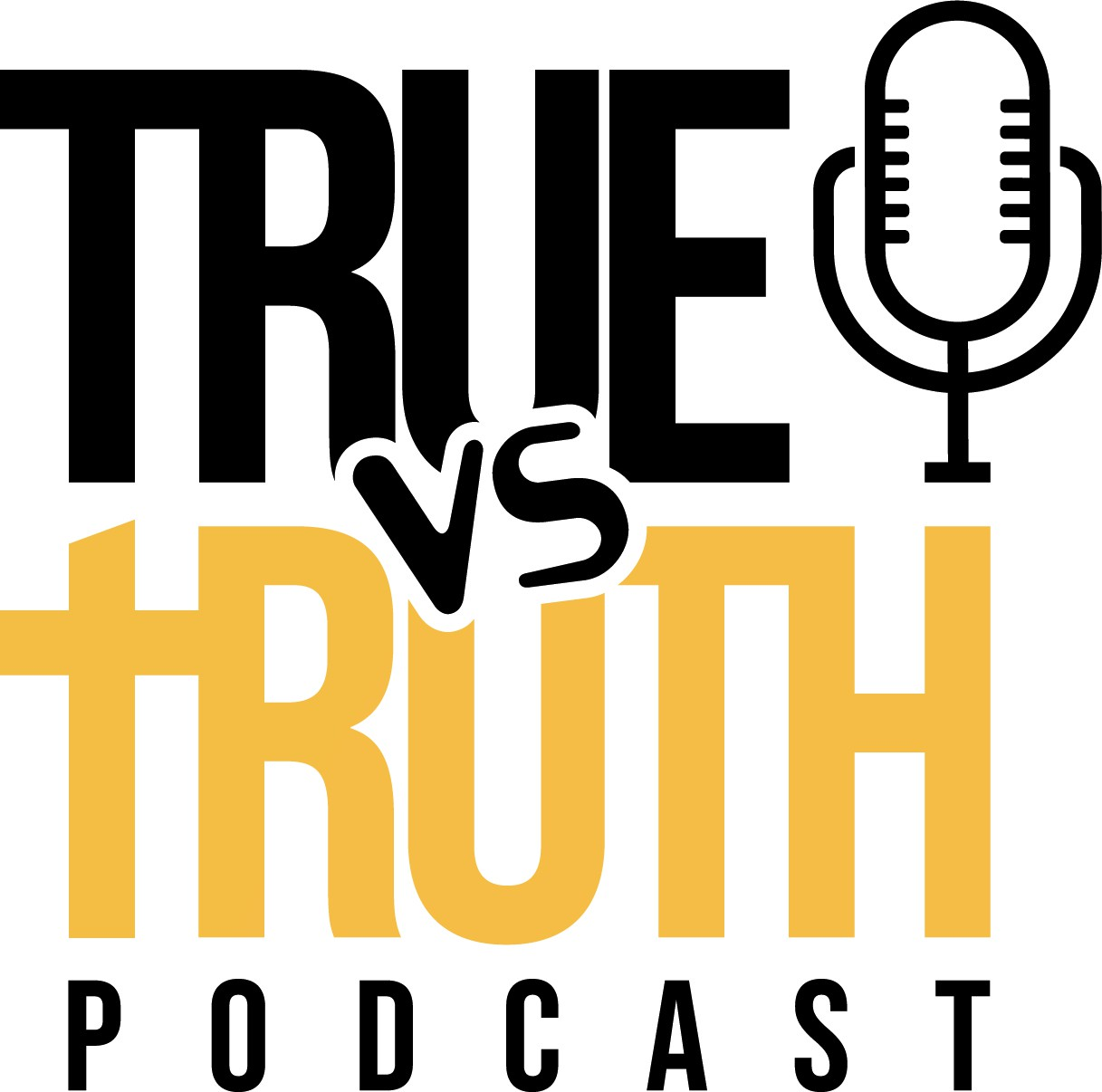 """Design a trendy urban logo for """"True vs. Truth"""" podcast hosted by former NFL player"""