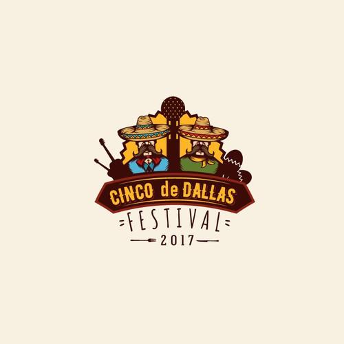 """Logo design for""""Cinco de Dallas"""""""