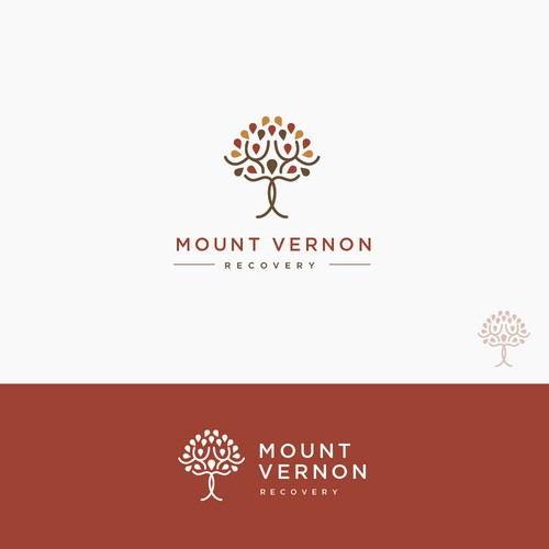 Clean and luxury logo for Mount Vernon Recovery