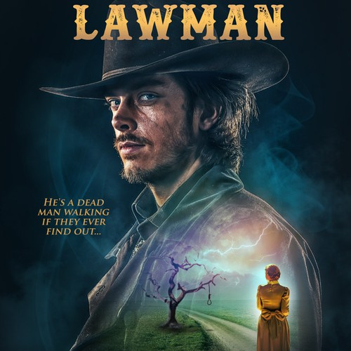 Gripping book cover for The Wanted Lawman