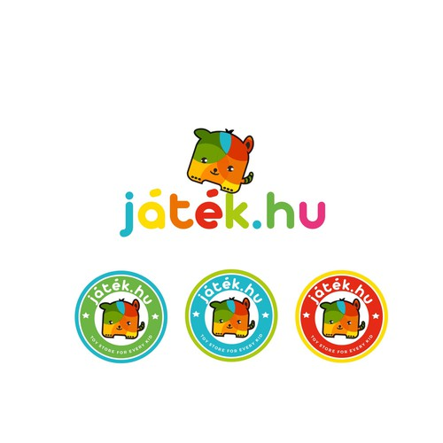 Colourful and fun logo for the Toy store