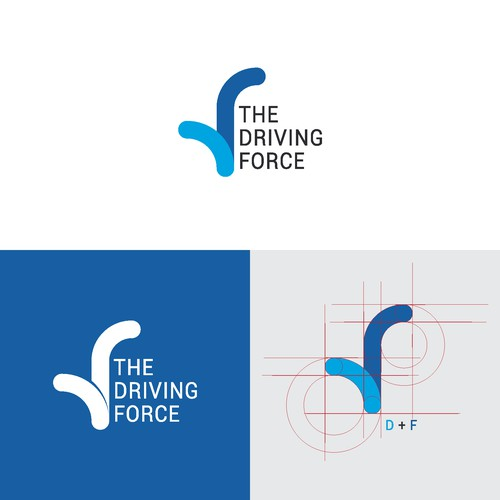 logo concept for driving force