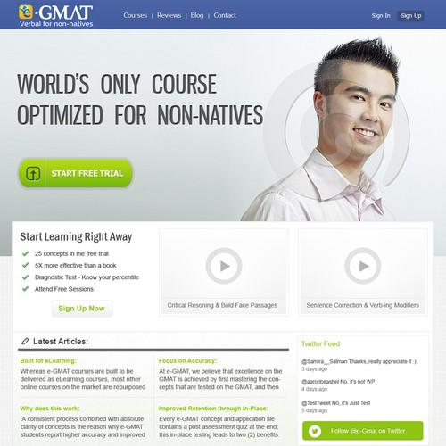 E-GMAT Web Desing