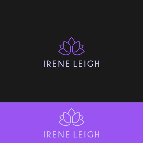 feminine graphic logo for Irene Leigh