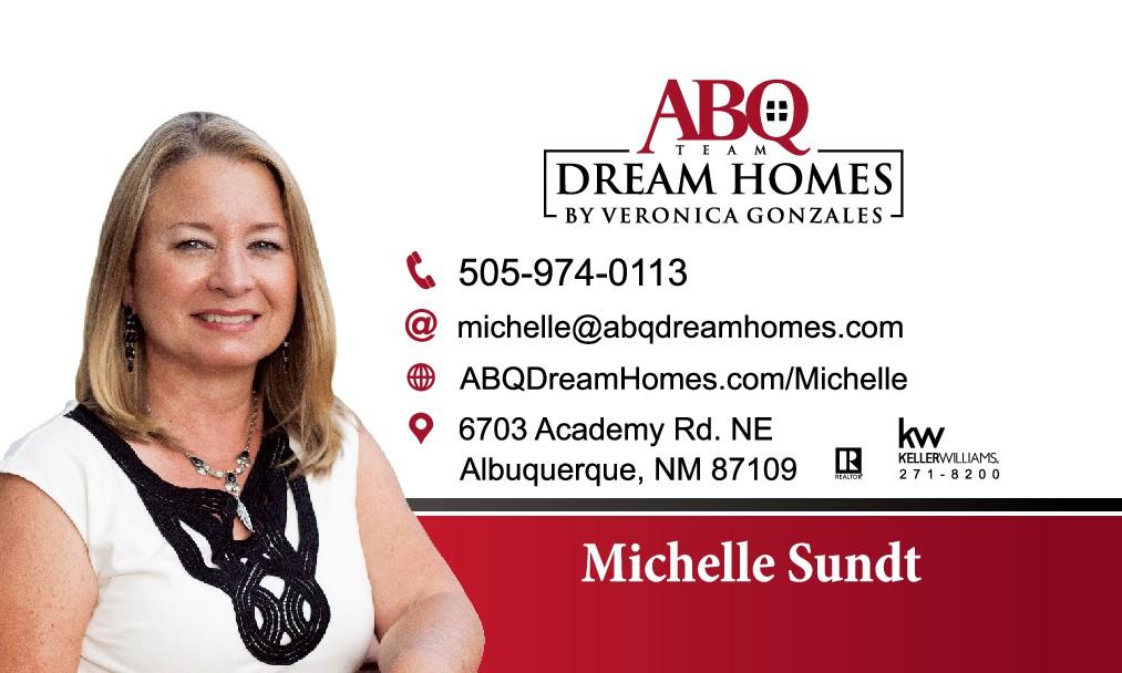 Business Cards Change Number for Michelle Sundt