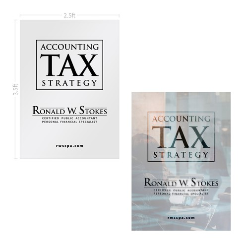 Vinyl Decal (Door) design concept for Ronald W. Stokes CPA