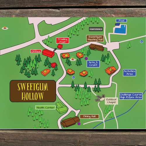 Youth camp map