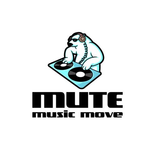 DJ logo concept for music move