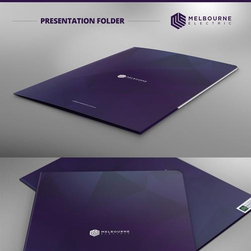 Presentation Folder Design for Melbourne Electric