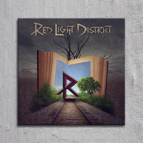 """Album Cover for debut album """"FAST LANE"""" by German Rock Band Red Light District"""