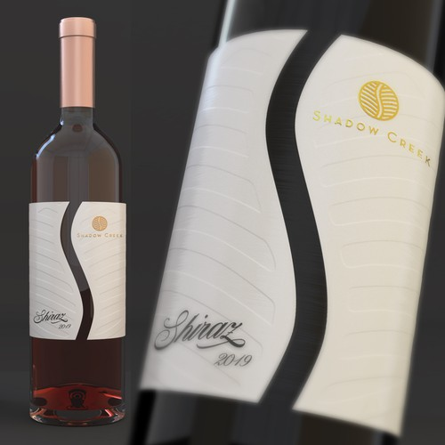 Design a new wine label for an Australian Shiraz