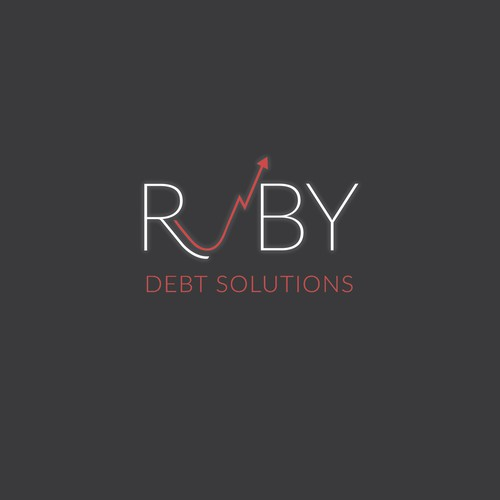 Minimal logo design for the consulting company Ruby