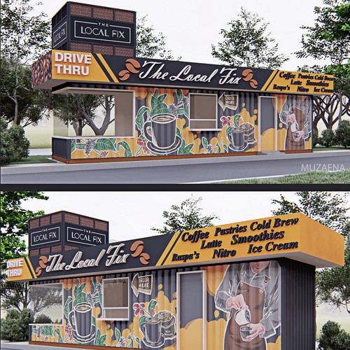 Coffee Kiosk graphics