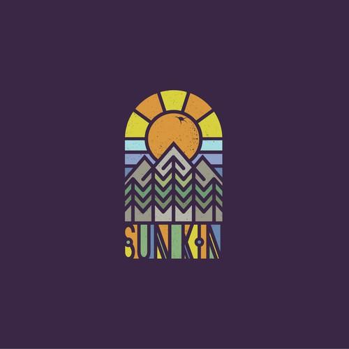 Colourful Logo for Californian Band Sun Kin