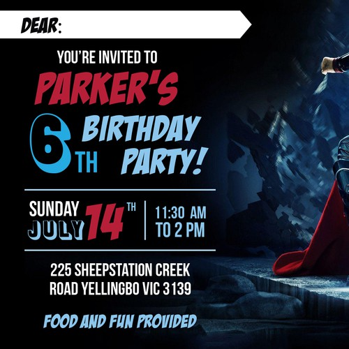 Avenger Party Invitation