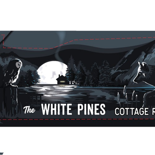 Truck wrap for The White Pines cottage resort