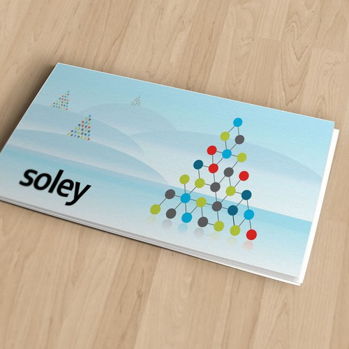 A clean and minimalistic christmas card for a software startup
