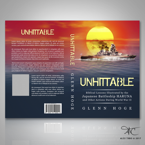 "Full book cover design for Glenn Hoge's ""Unhittable"""