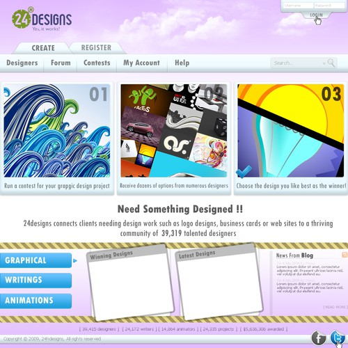 Clean and userfriendly webdesign for upstarting webpage - Fast