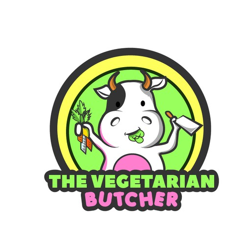 logo for a vegetarian butcher