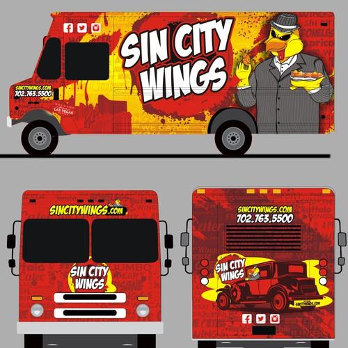 sin city wings truck