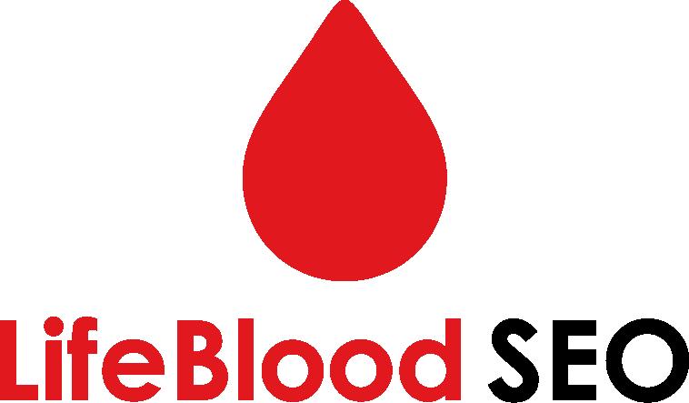 Create a heart-pumping logo for LifeBlood SEO.