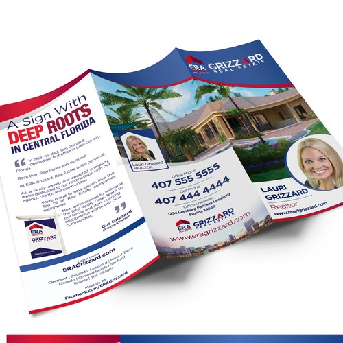 Tri fold brochure for real estate