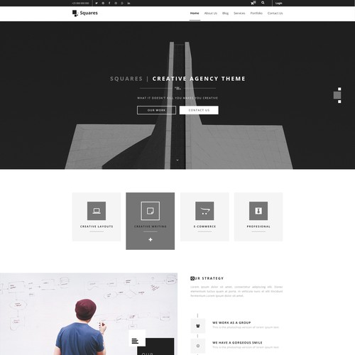 Squares - Creative agency Template