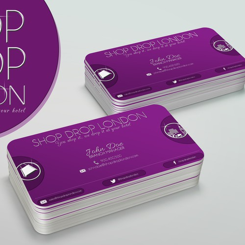 Shop Drop London Logo and Business Card Design