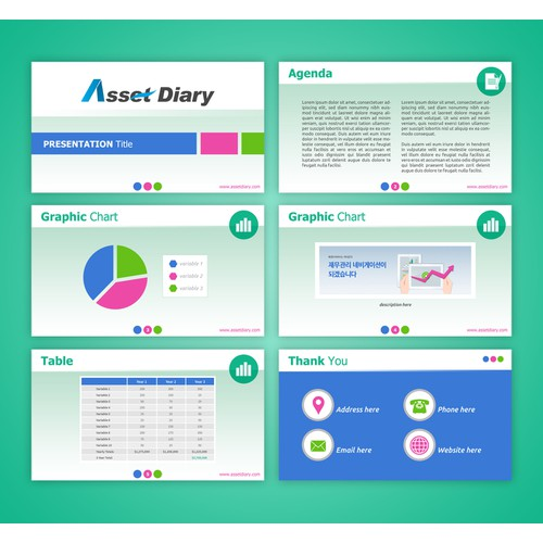 Design Power Point Template for Online Financial Services