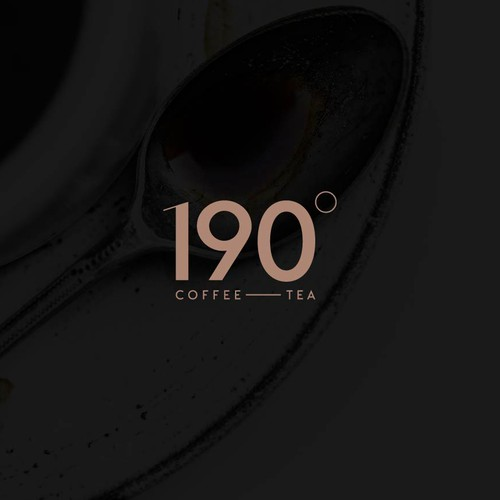Clean and minimal logo for a coffee tea shop