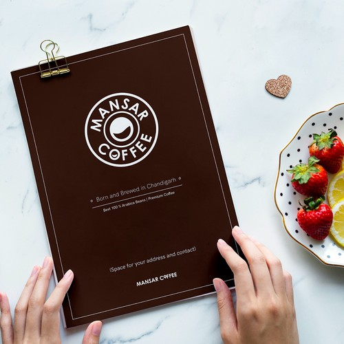 Design the Menu for Mansar Coffee